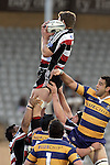 Kristian Ormsby claims lineout ball during the Air NZ Cup rugby game between Bay of Plenty & Counties Manukau played at Blue Chip Stadium, Mt Maunganui on 16th of September, 2006. Bay of Plenty won 38 - 11.