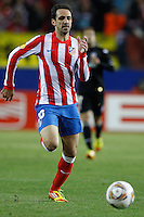 19.04.2012 MADRID, SPAIN - UEFA Europa League 11/12 Semi Finals match played between At. Madrid vs Valencia (4-2) at Vicente Calderon stadium. the picture show  Juan Francisco Torres (Spanish midfielder of At. Madrid)