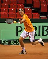09-09-13,Netherlands, Groningen,  Martini Plaza, Tennis, DavisCup Netherlands-Austria, DavisCup,   Thiemo de Bakker  (NED) <br /> Photo: Henk Koster