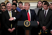 United States President Donald J. Trump speaks as he welcomes the 2018 Division I FCS National Champions: The North Dakota State Bison in the State Dining Room of the White House on March 4, 2019 in Washington, DC. <br /> Credit: Oliver Contreras / Pool via CNP