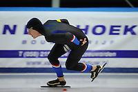 SCHAATSEN: LEEUWARDEN, 22-10-2016, Elfstedenhal,  KNSB Trainingswedstrijden, Sjoerd de Vries, ©foto Martin de Jong