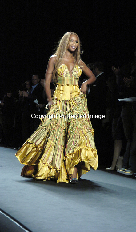 Naomi Campbell ..at the Fashion For Relief Fashion Show Benefit on September 16, 2005 at The Tents at the Olympus Fashion Week with money to be donatted to AmeriCares. ..Photo by Robin Platzer, Twin Images