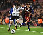 Valencia's  Antonio Barragan  and FC Barcelona's Neymar  during Spanish King Cup match. February 3, 2016. (ALTERPHOTOS/Javier Comos)