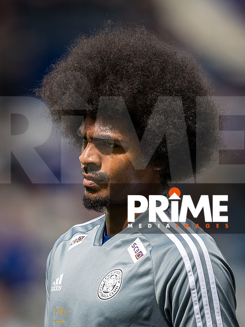 Hamza Choudhury of Leicester City pre match during the Premier League match between Leicester City and Wolverhampton Wanderers at the King Power Stadium, Leicester, England on 10 August 2019. Photo by Andy Rowland.