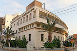 Israel, Tel Aviv. The Kabbalah center, a Bauhaus style building
