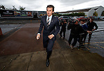 Joey Barton arriving at Ibrox for the meeting to decide his future at Rangers