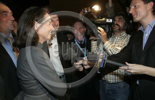 AIFFRES - FRANCE - 14 NOVEMBER 2006-- Ségolène (Segolene) ROYAL in the crowed of supporters while talking to the media after her campaign for her election as the socialist party candidate for the French presidential elections. -- PHOTO: JUHA ROININEN / EUP-IMAGES