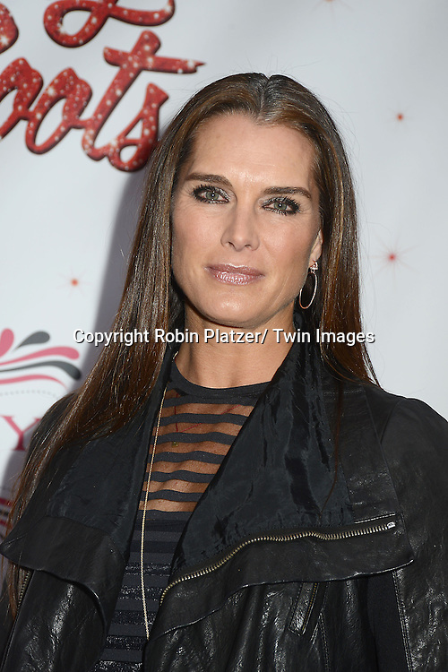 "Brooke Shields arrives at the ""Kinky Boots"" Broadway Opening on April 4, 2013 at The Al Hirschfeld Theatre in New York City. Harvey Fierstein wrote is the Book Writer and Cnydi Lauper is the Composer."