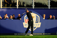 Hunter Mahan (USA) during the Saturday morning Fourballs of the 2014 Ryder Cup at Gleneagles. The 40th Ryder Cup is being played over the PGA Centenary Course at The Gleneagles Hotel, Perthshire from 26th to 28th September 2014.: Picture Thos Caffrey, www.golffile.ie: \27/09/2014\