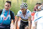 World Champion Alejandro Valverde (ESP) Movistar Team wins Stage 1 of the Route d'Occitanie 2019, running 175.5km from Gignac-Vallée de l'Hérault to Saint-Geniez-d'Olt-et-d'Aubrac , France. 20th June 2019<br /> Picture: Colin Flockton | Cyclefile<br /> All photos usage must carry mandatory copyright credit (© Cyclefile | Colin Flockton)