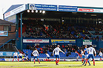 Fans in the George Hill Main Stand watching the game. Oldham v Portsmouth League 1