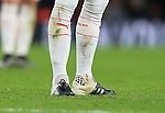 Arsenal's Mesur Ozil specially adapted socks<br /> <br /> Barclays Premier League- Arsenal vs AFC Bournemouth - Emirates Stadium - England - 28th December 2015 - Picture - David Klein/Sportimage