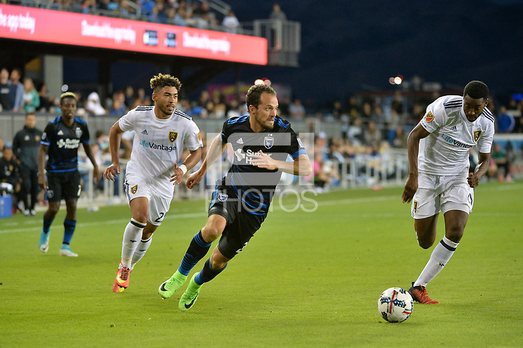 San Jose, CA - Saturday June 24, 2017: Marco Ureña during a Major League Soccer (MLS) match between the San Jose Earthquakes and Real Salt Lake at Avaya Stadium.