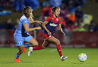 Boyds, MD - Friday Sept. 30, 2016: Sofia Huerta, Caprice Dydasco during a National Women's Soccer League (NWSL) semi-finals match between the Washington Spirit and the Chicago Red Stars at Maureen Hendricks Field, Maryland SoccerPlex. The Washington Spirit won 2-1 in overtime.