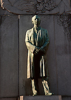 Montreal (Qc) CANADA - Nov 1999 -<br /> Sir Wilfried Laurier statue in Dominion Square ,downtown Montreal.<br /> <br /> Sir Wilfrid Laurier, GCMG, PC, KC, baptized Henri-Charles-Wilfrid Laurier (November 20, 1841 – February 17, 1919) was the seventh Prime Minister of Canada from July 11, 1896, to October 5, 1911.<br /> <br /> Canada's first francophone prime minister, Laurier is often considered one of the country's greatest statesmen.