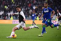 Paulo Dybala of Juventus , Marlon of US Sassuolo <br /> Torino 1-12-2019 Juventus Stadium <br /> Football Serie A 2019/2020 <br /> Juventus FC - US Sassuolo 2-2 <br /> Photo Federico Tardito / Insidefoto