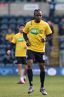 Marcus Bean of Wycombe Wanderers in his Kick it Out shirt during the Sky Bet League 2 match between Wycombe Wanderers and Stevenage at Adams Park, High Wycombe, England on 12 March 2016. Photo by Andy Rowland/PRiME Media Images.