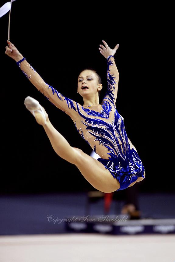 September 25, 2003; Budapest, Hungary; TAMARA YEROFEEVA of Ukraine leaps with ribbon at 2003 World Championships.