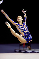 September 25, 2003; Budapest, Hungary; TAMARA YEROFEEVA of Ukraine leaps with ribbon at 2003 World Championships.