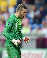 FUSSBALL  EUROPAMEISTERSCHAFT 2012   VORRUNDE Italien - Kroatien                    14.06.2012 Torwart Stipe Pletikosa (Kroatien) jubelt nach dem 1:1