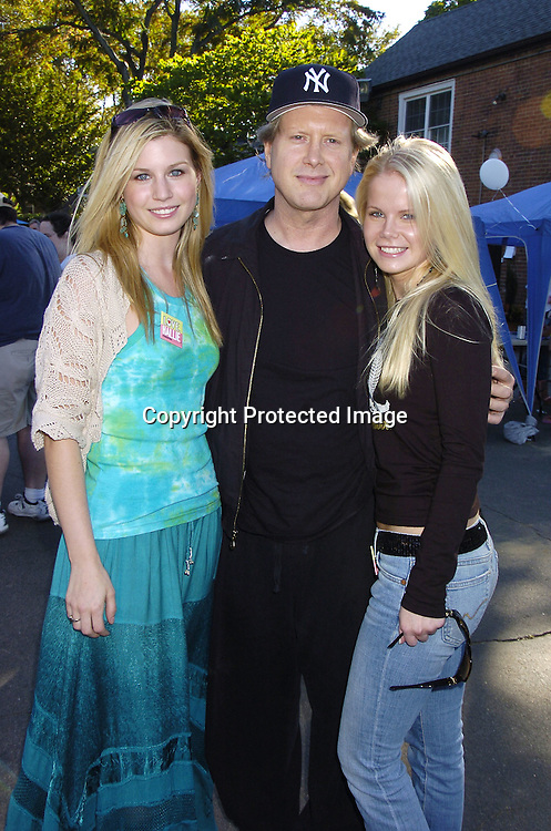 Stephanie Gatschet and Crystal Hunt and Darrell Hammond from Saturday Night Live ..at Halliestock 2 benefit on September 24, 2005 at ..Sunnyside Gardens Park in Queens. This benefit raised money for Love, Hallie. ..Photo by Robin Platzer, Twin Images