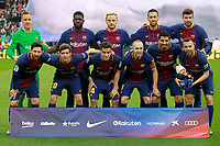 FC Barcelona's team photo with Marc-Andre Ter Stegen, Samuel Umtiti, Ivan Rakitic, Sergio Busquets, Gerard Pique, Leo Messi, Sergi Roberto, Philippe Coutinho, Andres Iniesta, Luis Suarez and Jordi Alba during La Liga match. March 4,2018. (ALTERPHOTOS/Acero) /NortePhoto.com NORTEPHOTOMEXICO