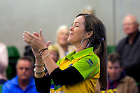 Lynsey Clarke (Hawks). Gold Coast Hawks v Brisbane Pirates semifinal. Bowls Premier League at Naenae Bowling Club in Wellington, New Zealand on Thursay, 26 April 2018. Photo: Dave Lintott / lintottphoto.co.nz