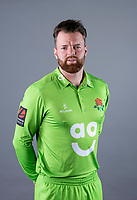 Picture By Allan McKenzie/SWpix.com - 11/04/18 - Cricket - Lancashire County Cricket Club Photo Call Media Day 2018 - Emirates Old Trafford, Manchester, England - Arron Lilley.