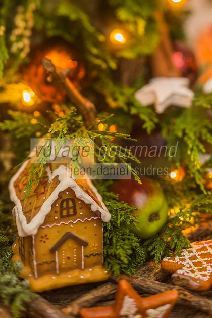 Europe/Allemagne/Bade-Würrtemberg/Forêt Noire/Baiersbronn/Gärtenbühlweg: Hôtel: Bareiss, décoration de Noël