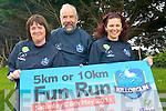 Killorglin Ruby Club are calling on participants for this weekend's fun run. .L-R Youth Coach Martina Moriarty, President of Killorglin Rugby Club Tom Curtayne and PRO Breda O'Sullivan.