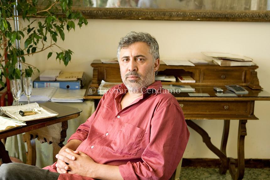 Bari, Italy 2007. The Italian writer and screenwriter Francesco Piccolo in Bari for the Literary Prize 'Città di Bari'.