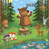 Sarah, CUTE ANIMALS, LUSTIGE TIERE, ANIMALITOS DIVERTIDOS, paintings+++++WoodlandCritters-14-A,USSB572,#AC#, EVERYDAY ,bears,woods