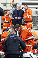 09 January 2019 - London, UK - Prince William Duke of Cambridge arrives at the Royal London Hospital on board the London air ambulance. Photo Credit: ALPR/AdMedia