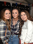 Jessica Sullivan, Lynne Bowhan and Alanne Dowling at the Oberstown Farm barn dance. Photo:Colin Bell/pressphotos.ie