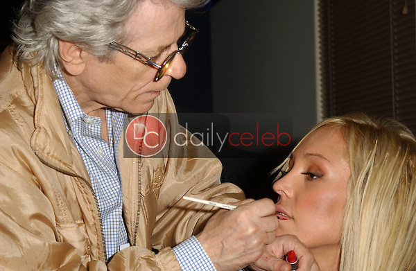 """Mary Carey and Make-up Bernd Rantscheff<br /> at NBC Studios Burbank, on the set of """"Countdown with Keith Olberman"""" to discuss adult films stars crossing over into the mainstream, Burbank, CA 05-03-06 EXCLUSIVE<br /> <br /> David Edwards/DailyCeleb.com 818-249-4998"""