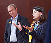 Tim Farron MP <br /> Leader of the LibDems addresses a public meeting on Brexit with Sarah Olney Liberal Democrat candidate in the Richmond Park by election at Christ Church, New Malden, Surrey, Great Britain <br /> 26th November 2016 <br /> <br /> Tim Farron <br /> Sarah Olney <br /> <br /> presented by <br /> Ed Davey<br /> Former Secretary of State for Energy and Climate Change<br /> <br /> <br /> Photograph by Elliott Franks <br /> Image licensed to Elliott Franks Photography Services