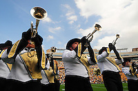06 September 08: Horn players with the Colorado band play during halftime of a game against Eastern Washington. The Colorado Buffaloes defeated the Eastern Washington Eagles 31-24 at Folsom Field in Boulder, Colorado. FOR EDITORIAL USE ONLY