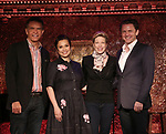 Brian Stokes Mitchell, Lea Salonga, Marin Mazzie and Jason Danieley attend the at Feinsteins/54 Below on May 8, 2017 in New York City.