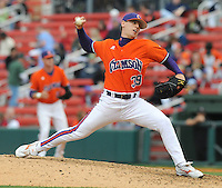May 11, 2009: RHP Alex Frederick (39) of the Clemson Tigers in a game against the Furman Paladins at Fluor Field at the West End in Greenville, S.C. Photo by: Tom Priddy/Four Seam Images