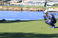Paul Casey (ENG) on the 5th green during Sunday's Final Round of the 2018 AT&amp;T Pebble Beach Pro-Am, held on Pebble Beach Golf Course, Monterey,  California, USA. 11th February 2018.<br /> Picture: Eoin Clarke | Golffile<br /> <br /> <br /> All photos usage must carry mandatory copyright credit (&copy; Golffile | Eoin Clarke)
