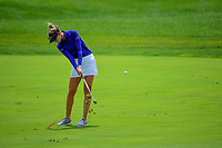 Nelly Korda (USA) hits her approach shot on 1 during Saturday's third round of the 72nd U.S. Women's Open Championship, at Trump National Golf Club, Bedminster, New Jersey. 7/15/2017.<br /> Picture: Golffile | Ken Murray<br /> <br /> <br /> All photo usage must carry mandatory copyright credit (&copy; Golffile | Ken Murray)