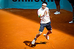 The tennis player Kei Nishikori during the match against Milos Raonic in the Madrid Open Tennis Tournament. In Madrid, Spain, on 08/05/2014.