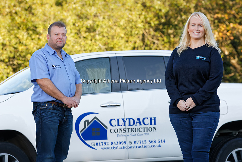 Pictured: Michael and Fay Sykes. Wednesday 11 October 2018 <br /> Re: Clydach Construction in Clydach, south Wales, UK.