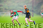 Barry Walsh Austin Stacks tackles Darragh O'Brien St Michaels Foilmore during the SFC relegation playoff in Killarney on Saturday