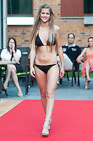 Fanni Weisz a participant of the Beauty Queen contest attends a bikini tour in Hotel Abacus, Herceghalom, Hungary on July 07, 2011. ATTILA VOLGYI