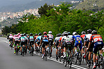 The peleton in action during Stage 7 of the 2018 Giro d'Italia, a flat stage running 159km from Pizzo to Praia a Mare, Italy. 11th May 2018.<br /> Picture: LaPresse/Fabio Ferrari | Cyclefile<br /> <br /> <br /> All photos usage must carry mandatory copyright credit (&copy; Cyclefile | LaPresse/Fabio Ferrari)