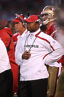 SAN FRANCISCO - AUGUST 14:  Head coach Mike Singletary of the San Francisco 49ers watches his team in action against the Denver Broncos during the game at Candlestick Park on August 14, 2009 in San Francisco, California. Photo by Brad Mangin