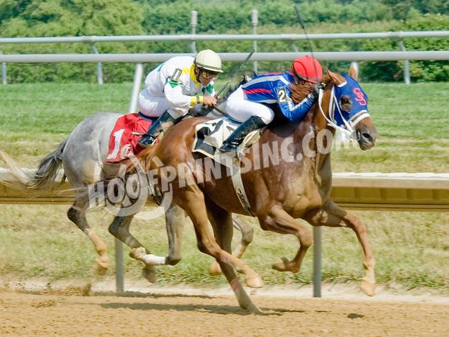 S S Skittles winning at Delaware Park on 7/16/12