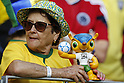 Brazil fans (BRA), <br /> JULY 4, 2014 - Football / Soccer : FIFA World Cup Brazil 2014 Quarter Final match between Brazil 2-1 Colombia at the Castelao arena in Fortaleza, Brazil. <br /> (Photo by AFLO)