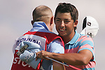 Pablo Larrazabal celebrates on the 18th hole after getting his par during his third round of the 2008 Open de France ALSTOM at Le Golf National, Paris, France - 28th June 2008 (Photo by Manus O'Reilly/GOLFFILE)